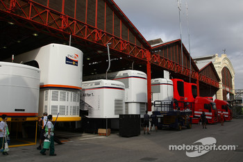 Trucks and Team garages