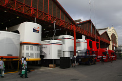 Trucks and Team garages
