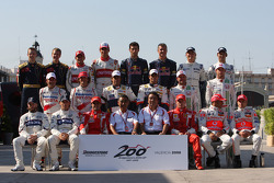 Drivers group photo, Bridgestone 200th Grand Prix