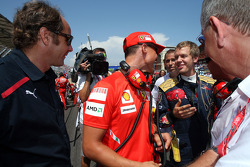 Gerhard Berger, Scuderia Toro Rosso, 50% Team Co Owner, Michael Schumacher, Test Driver, Scuderia Ferrari and Sebastian Vettel, Scuderia Toro Rosso