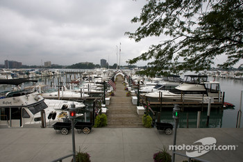 The marina at the Detroit Yacht Club