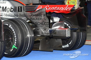 The Rear wing and diffuser of the McLaren Mercedes, MP4-23