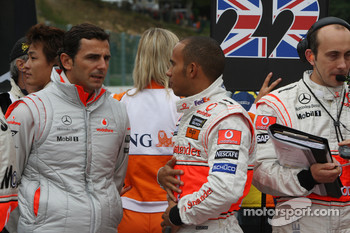 Pedro de la Rosa, Test Driver, McLaren Mercedes with Lewis Hamilton, McLaren Mercedes