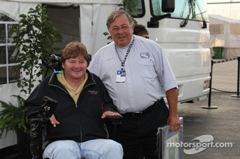 Father Phil celebrates 40 years of ministry with Sam Schmidt