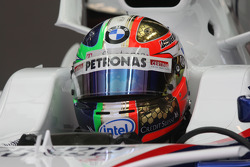 New design of the Helmet, Robert Kubica,  BMW Sauber F1 Team