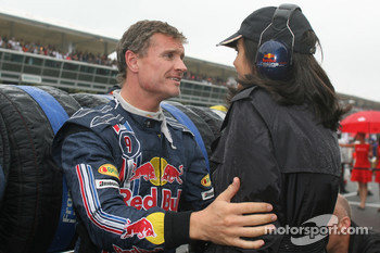 David Coulthard, Red Bull Racing with girlfriend Karen Minier