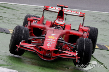 Kimi Raikkonen, Scuderia Ferrari, F2008, cuts the chicane