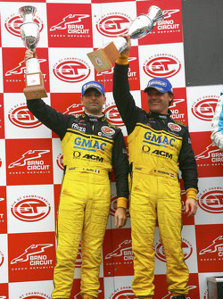GT1 podium: second place Mike Hezemans and Fabrizio Gollin
