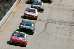 Jeff Gordon leads Denny Hamlin