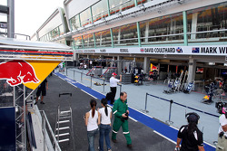 The Red Bull Racing garage