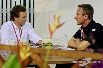 Team principal Christian Horner and team manager Jonathan Wheatley