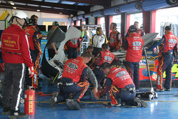 Dupont Chevy in the garage for damage repair