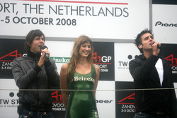 Dutch pop singers Nick & Simon singing the Dutch national anthem