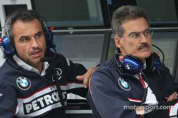 Beat Zehnder, BMW Sauber F1 Team, Team Manager and Dr. Mario Theissen, BMW Sauber F1 Team, BMW Motorsport Director