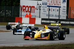 1st lap; #11 Walter Colacino, IRL G-Force, #65 Alain De Blandre, CART Lola, #31 Henk De Boer,Coloni FC188, #10 Frits Van Eerd, Tyrrell 026