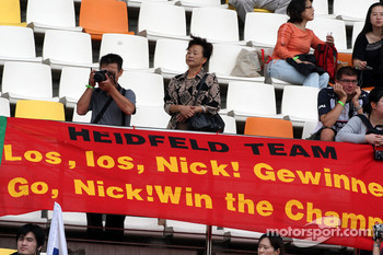 Banners of support for Nick Heidfeld, BMW Sauber F1 Team