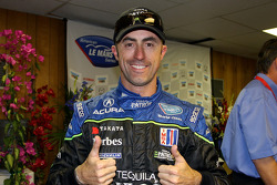 Pole winner David Brabham celebrates