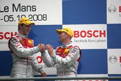 Podium: race winner Mattias Ekström and third place Alexandre Prémat