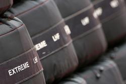 McLaren Mercedes spare bridgestone tyres