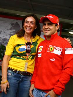 Felipe Massa and his mother Ana Helena