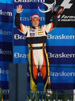 Podium: second place Fernando Alonso