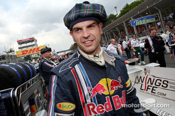 A Red Bull Racing team member
