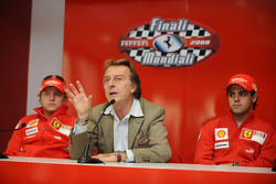 Press conference: Kimi Raikkonen, Luca di Montezemolo and Felipe Massa