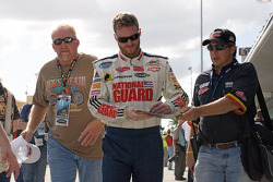 Dale Earnhardt Jr. signs autographs for fans