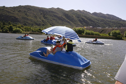 Fun in the sun on Lago Potrero de los Funes