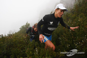 Launceston, Australia: Deanna Blegg and Jarad Kohlar of Team Keen in action