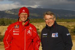 Olivier Quesnel, Citroen Total World Rally Team, and Michel Barge, Peugeot Sport Total