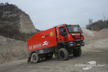 Team de Rooy: Jan de Rooy, Dany Colebunders, Darek Rodewald test the GINAF X2223 rally truck