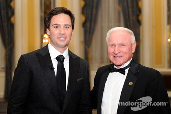 A visit by three-time NASCAR champion Cale Yarborough, left the 2008 NASCAR Sprint Cup Series Champion Jimmie Johnson as surprised as everyone else at the NASCAR Sprint Cup Series Awards Ceremony at the Waldorf=Astoria