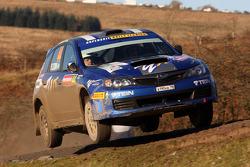 Patrik Flodin and Maria Andersson, Subaru Impreza, Rally Team Olsberg