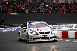 Andy Priaulx demonstrates his BMW World Touring Car for the crowd
