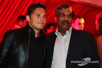 Giancarlo Fisichella Force India F1 at the Fly Kingfisher Boat Party