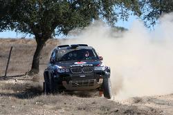 X-raid team: Miguel Barbosa and Miguel Ramalho test the #313 BMW X3 CC