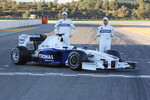 Nick Heidfeld and Robert Kubica with the new BMW Sauber F1.09