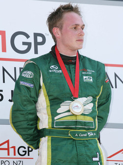 Podium: winner Adam Carroll
