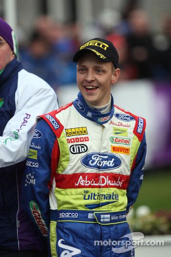 Podium: third place Mikko Hirvonen