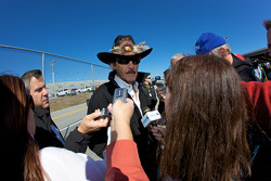 Richard Petty speaks to the media