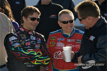 Hendrick Motorsports' 25th anniversary season car unveiling event: Jeff Gordon, Mark Martin and Darrell Waltrip