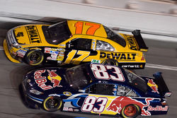 Kurt Busch, Brian Vickers and Matt Kenseth battle three-wide