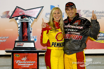 Victory lane: race winner Kevin Harvick