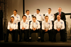 Peugeot Sport drivers during the presentation