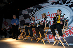 Champion's breakfast: 2009 Daytona 500 winner Matt Kenseth, Roush Fenway Racing Ford, Jack Roush, Roush Fenway Racing Ford owner, and crew chief Drew Blickensder for Matt Kenseth on stage