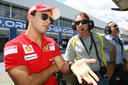 Felipe Massa with Emerson Fittipaldi, Seat Holder of A1 Team Brazil