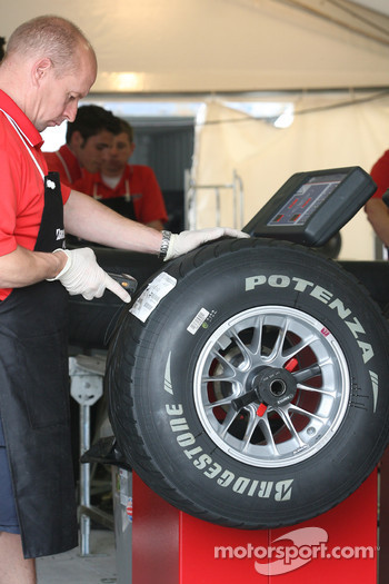 Bridgestone tyre with an engineer