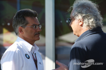 Dr. Mario Theissen, BMW Sauber F1 Team, BMW Motorsport Director, Flavio Briatore, Renault F1 Team, Team Chief, Managing Director