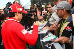 Felipe Massa, Scuderia Ferrari signing autographs